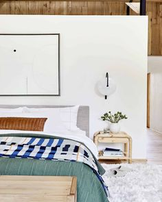 Design 101: How High To Hang Your Sconce in Every Room + 48 of Our Favorite Picks - Emily Henderson #livingroom #lighting #sconce Home Design, Interior Design, Interior Plants, Interior Ideas, Master Bedroom, Bedroom Decor, Scandi Bedroom, Modern Bedroom, Bedroom Ideas