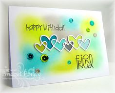 Card by Bridget Finlay  (011516)  [Paper Smooches (dies) Linked Hearts; (stamps) Sentiment Sampler]