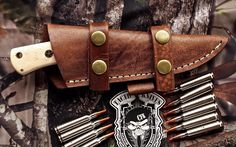 CFK USA Custom Handmade 1095HC Tactical Hunting Skinning Camel Bone EDC Knife