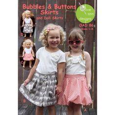 Olive Ann Designs Girls Bubbles & Buttons by BellatiqueFabrics
