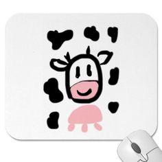Rosa Moo Mousepad