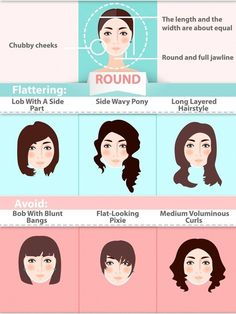 The Ultimate Hairstyle Guide For Your Face Shape Don't know what hairstyle suits you best? Look at your face. Match your face shape with the right hair using this hairstyle guide. Haircuts For Round Face Shape, Face Shape Hairstyles, Hairstyles For Round Faces, Diy Hairstyles, Hairstyle Ideas, Haircuts Straight Hair, Trendy Haircuts, Girl Haircuts, Top Image