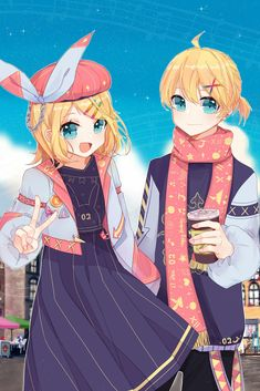 Vocaloid Len, Kaito, Im Falling In Love, My Sunshine, Anime Couples, Kawaii Anime, Art Pictures, Anime Characters, Anime Art
