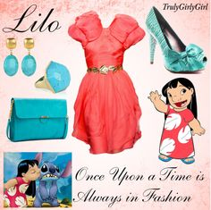 """Disney Style: Lilo"" by trulygirlygirl ❤ liked on Polyvore"