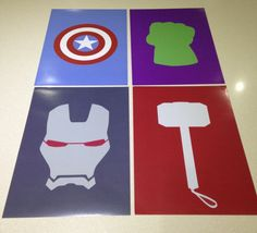 This is for a full set of 4 Avengers minimalist prints. 1 x Thor Hammer 1 x Hulk Fist 1 x Captain America Shield 1 x Iron Man FREE--------