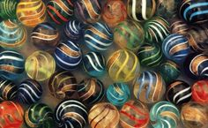 Most Valuable Marbles | ... Lutz - Banded Lutz - all Lutz marbles have the gold metallic bands
