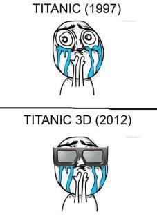 Titanic 1997 versus Titanic 3D 2012