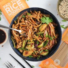 Perfectly spicy and packed with flavor, this Spicy Szechuan Noodle Stir Fry is easily adaptable with whatever veggies are in season. #vegan #plantbased #stirfry Szechuan Noodles, Pad Thai Rice Noodles, Tofu Pad Thai, Spicy Thai Noodles, Thai Beef Stir Fry, Vegan Ground Beef, Asian Recipes, Ethnic Recipes, Ramen Recipes