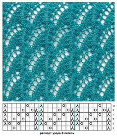 """""""lace knitting pattern g Lace Knitting Stitches, Crochet Stitches Patterns, Knitting Charts, Lace Patterns, Knitting Patterns Free, Stitch Patterns, Sewing Patterns, How To Purl Knit, Points"""