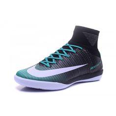 Barato Nike MercurialX Proximo II IC Negro Azul Botas De Futbol - Botas De fútbol Nike Mercurial Baratas