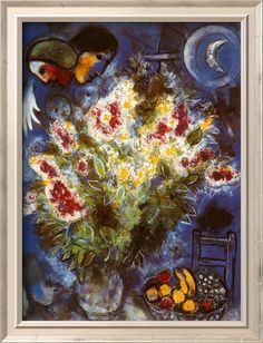 Still Life with Flowers Poster von Marc Chagall - bei AllPosters.ch