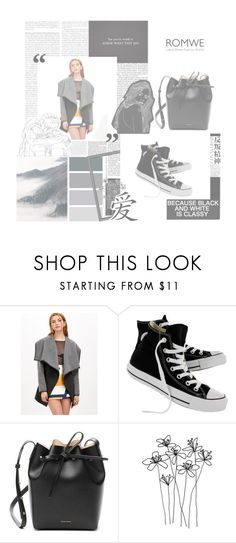 """coat/  romwe"" by lader ❤ liked on Polyvore featuring Olsen, Converse, Mansur Gavriel, Hedi Slimane and romwe"