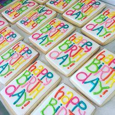 Always my favorite birthday design :) #decoratedcookies #birthday #atxbakery