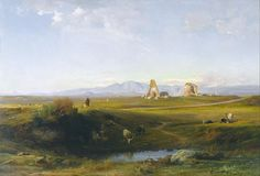 Jean-Achille Benouville - A View of the Roman Countryside - 1847 Google Art Project.