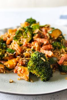 Gebakken rijst met spekjes, broccoli en courgette – As Cooked By Ginger Risotto, Dinner Casserole Recipes, Healthy Summer Recipes, Polenta, Gnocchi, Clean Eating Recipes, Quinoa, Food Inspiration, Love Food
