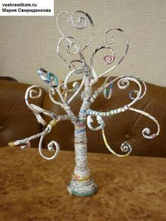 Magazine Pages Craft Ideas | ... nice photo tutorial on how to make a tree out of rolled magazine pages