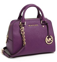 MICHAEL Michael Kors leather satchel.