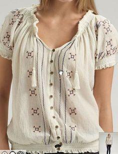 Joie Signe Smocked Peasant Blouse as worn by Bella Swan (Kristen Stewart) in New Moon.