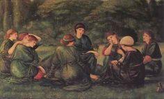 Giclee Print: Green Summer Wall Art by Edward Burne-Jones by Edward Burne-Jones : Famous Artists, Great Artists, Jean Shinoda Bolen, Canvas Art Prints, Fine Art Prints, Art Nouveau, Edward Burne Jones, Spring Landscape, Winter Scenery