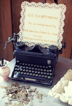 another guest book thing.... i love me my vintage stuff... why not keys?!