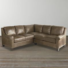 A leather sectional sofa is sure to add a rugged elegance to your living room. Find the right leather sectional with our leather options and configurations. Leather L Shaped Couch, Small Leather Sofa, Leather Sectional, Small L Shaped Sofa, Living Room Sofa, Living Room Decor, Living Rooms, Simple Furniture, Kitchen Furniture