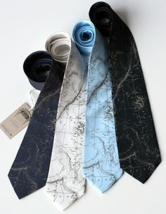 Topographical Error map screen printed silk necktie, nautical seafloor contour map. Silkscreened men's tie.. $40.00, via Etsy.