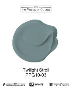 Twilight Stroll is a part of the collection by PPG Voice of Color®. Browse this paint color and more collections for more paint color inspiration. Get this paint color tinted in PPG PITTSBURGH PAINTS®, PPG PORTER PAINTS® & or PPG PAINTS™ products.