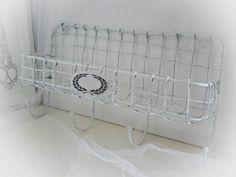 Wandhaken - Wandkorb Regal Hakenleiste shabby - ein Designerstück von Dragonflys-Home bei DaWanda