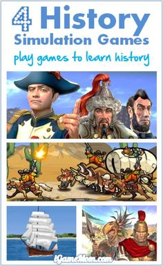 Learning history is more interesting with these fun games - kids role-play as historical figures, handle the tough situations under the historical setting, learning the history first-hand while playing games.