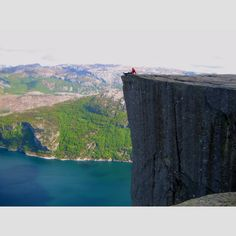 Pulpit Rock - Norway.. Well worth the hike..