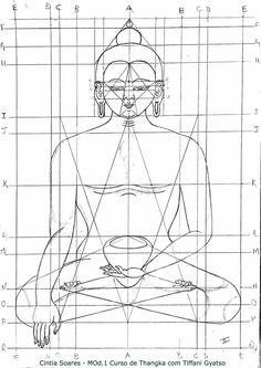 Sacred Geometry Buddha Sketch with links to drawing