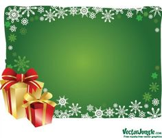 Snowflake Christmas Gifts Vector Background - http://www.dawnbrushes.com/snowflake-christmas-gifts-vector-background/