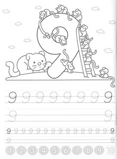 Writing numbers worksheets for preschool and kindergarten - Kids Art & Craft Pre K Activities, Alphabet Activities, Classroom Activities, Preschool Lessons, Preschool Math, Numbers Preschool, Preschool Worksheets, Teaching Kids, Kids Learning