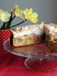 Rhubarb Meringue, Meringue Cake, Summer Recipes, Macarons, Cheesecake, Food And Drink, Pie, Sweets, Cookies