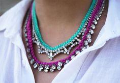 DIY Braided Rhinestone Necklace