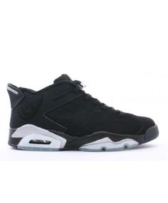 f3e12ef736ad Air Jordan 6 Retro Low Black Metallic Silver 304401 061