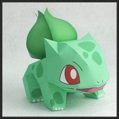 Pokemon - Bulbasaur Ver.6 Free Papercraft Download - http://www.papercraftsquare.com/pokemon-bulbasaur-ver-6-free-papercraft-download.html