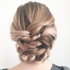 braided updo, bridal hair ,  bridal hairstyles, wedding hair,  fishtail, rope braid, blonde hair, updo, soft updo , messy updo, wedding hairstyles, event hairstyles, bridal party hairstyles (scheduled via http://www.tailwindapp.com?utm_source=pinterest&utm_medium=twpin&utm_content=post65342036&utm_campaign=scheduler_attribution)