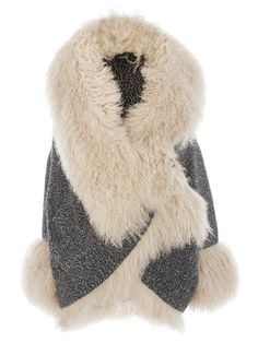 Chunky Knit Fur Cardigan by Alexander McQueen