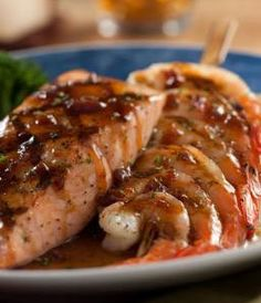 Red Lobster Restaurant Copycat Recipes: Maple Glazed Salmon and Shrimp