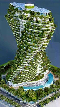 Plans Architecture, Futuristic Architecture, Sustainable Architecture, Beautiful Architecture, Landscape Architecture, Architecture Design, Residential Architecture, Green Architecture, Beautiful Places To Travel