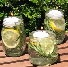 """keep mosquitoes, flies, and other bugs & insects away from your summer fun with these DIY all-natural """"Bug Away"""" essential oil candles"""
