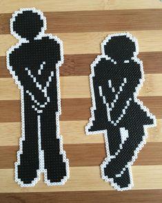 Toilet sign perler beads by mariamoellernielsen