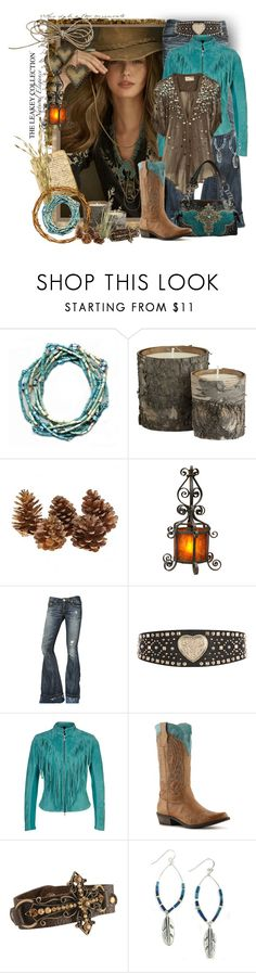 """""""Cowgirl with The Leakey Collection"""" by tracireuer ❤ liked on Polyvore featuring Ralph Lauren Blue Label, Crate and Barrel, True Religion, River Island, Goosecraft, Elizabeth and James and Coconuts"""