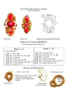 Tatting Salus Jewelry-Gioielli per ogni donna добавил(а) новую фотографию. | фриволите, анкарс | Постила