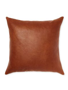 Distressed Leather Throw Pillow from Up to 80% Off: Decorative Pillows on Gilt