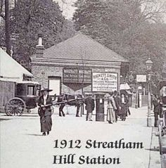 1912 Streatham Hill Station Victorian Street, Victorian London, Vintage London, Old London, London History, British History, Old Pictures, Old Photos, Southern Railways
