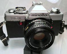 Minolta XG-1 35mm SLR Film Camera Body with 45mm lens 1:2, Strap and Manuals!!!!   eBay