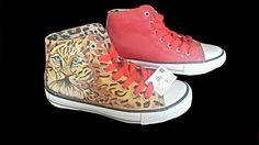 Zapatillas piel pintadas a mano alzada por DunArte