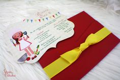 Cooking Class - Little Chef Birthday Invitations